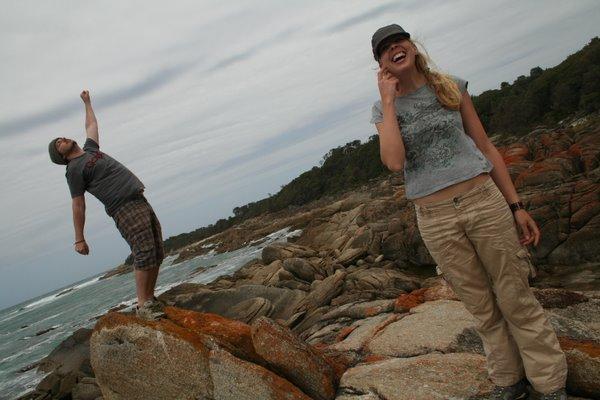 Josh and Beth on some rocks