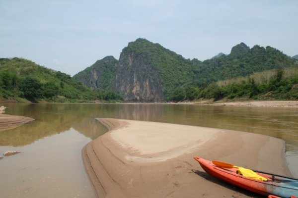 Kayak on the Mekong
