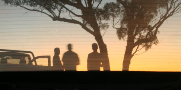 Sunset, Blokes, Rearview