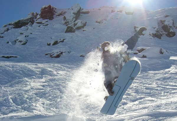 Josh catches some air at Cardrona