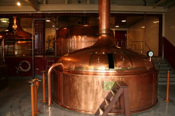 Speights copper brewing vessels