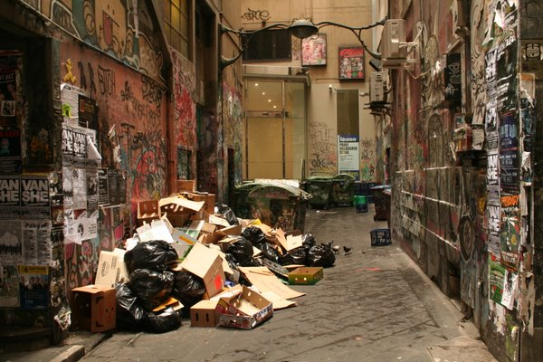 trash alley
